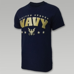Wholesale US Military Clothing T Shirts Hats Caps - US Navy 4-Star T-Shirt
