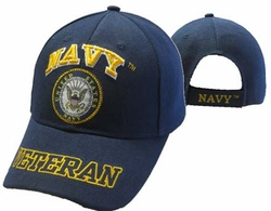 Wholesale US Navy Hats Caps - CAP592DA Navy Emblem Veteran Cap