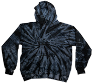 Tie Dye Hoodie, Pullover Apparel, Wholesale, Bulk, Supplier - MSC Distributors - SPIDER BLACK