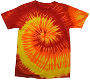 Wholesale Products - Men's Women's Adult Colortone Tie Dye Vintage Pigment Collection Youth & Adult T-Shirt - BLAZE