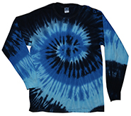Tie Dye T Shirts, Long Sleeve T Shirts, Wholesale T Shirts, BLUE OCEAN