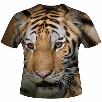 Wildlife, Wholesale T Shirts, Bulk T Shirts, Big Face Bengel Tiger - 11085-7903