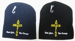 Wholesale Bulk Mens Hats and Caps Suppliers Printed - WIN806 Amazing Grace Beanie