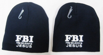 Wholesale Bulk Mens Hats and Caps Suppliers Printed - WIN813 Firm Beliver in Jesus Beanie