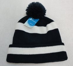Online Get Cheap Winter Hats Men Women Children -WN909-1. Double-Layer Knitted Hat with PomPom [Navy White]