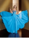 Blue A-line Alyce Prom Dress 2092