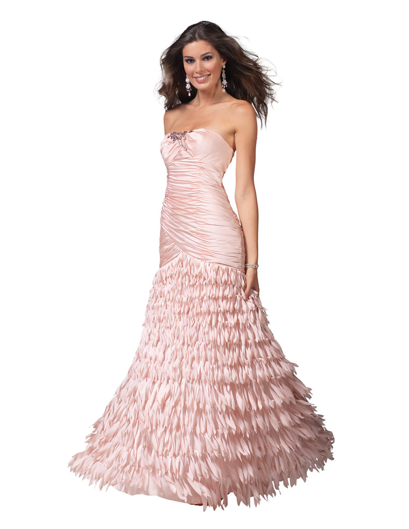 Clarisse prom dress 1510 - Light pink trumpet formal dress with ...