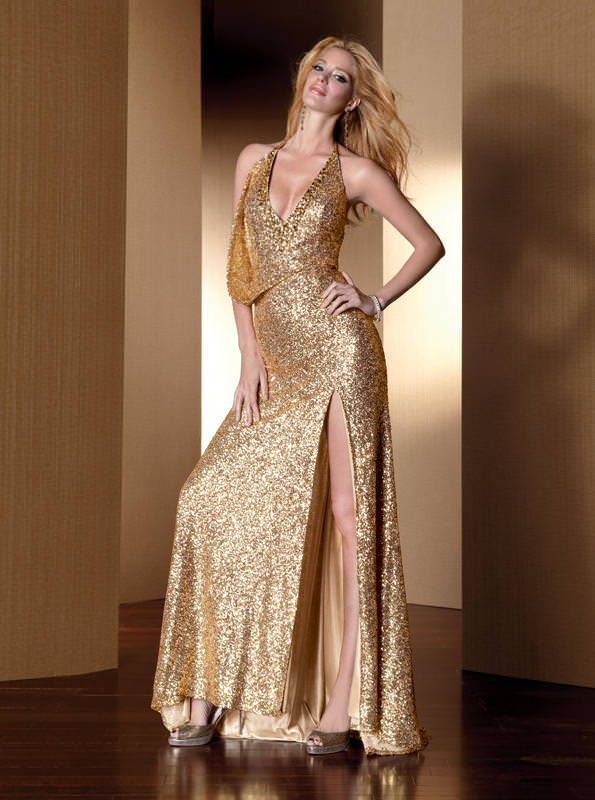 77a4d95427b Alyce 2012 Gold Long Prom Dress 2052