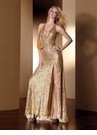 Gold Claudine for Alyce Prom Dress 2052