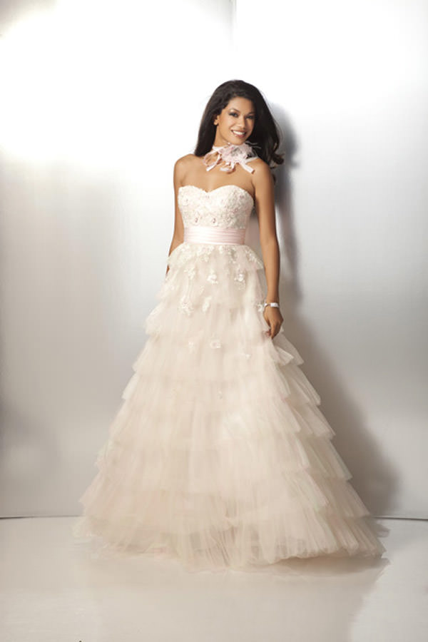 Pink and Mint Prom Gown Clarisse 17131