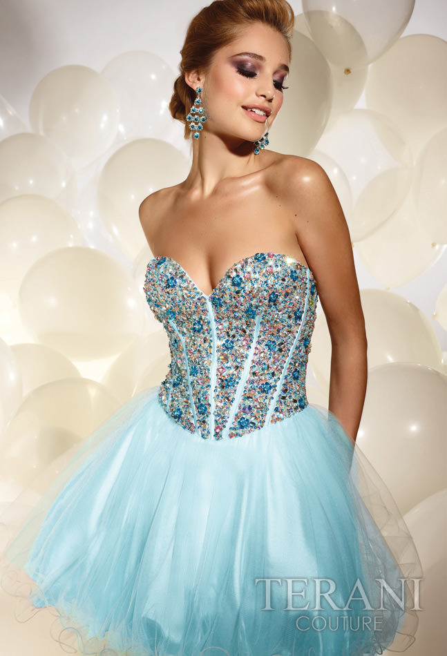 Terani Couture 2012 Short Prom Dress 677