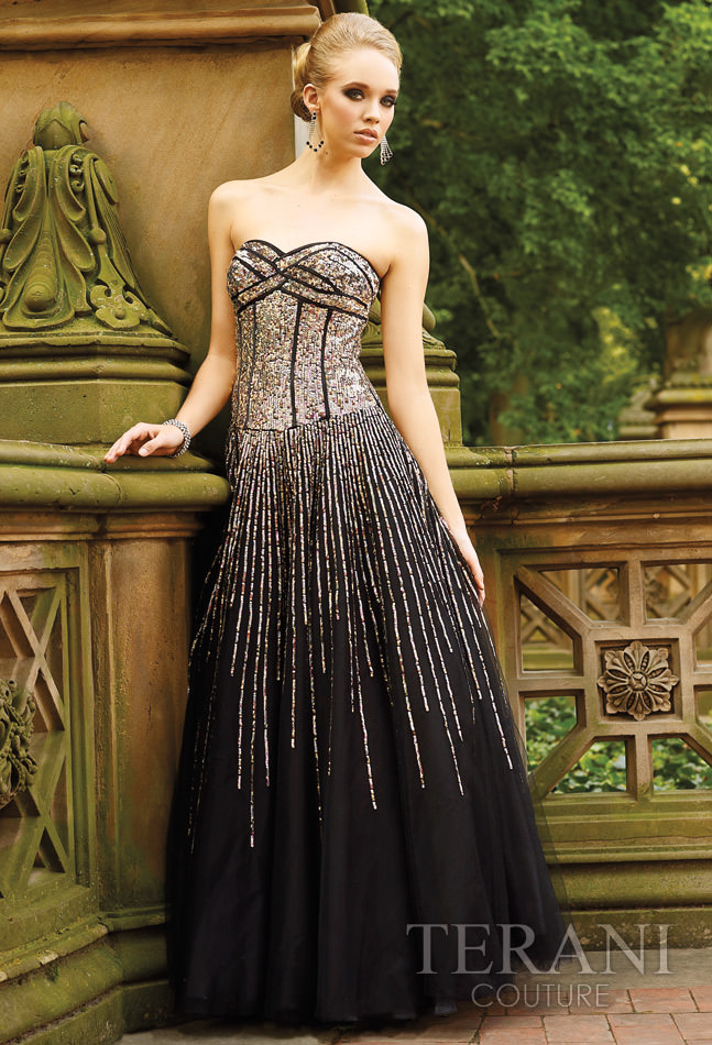Terani Couture 2012 Sequin Prom Dress 720