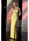 Yellow Alyce Scoop Neck Gown 35498