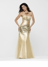 Embellished Gold Gown 2115