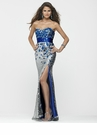 2013 Clarisse Sequin Peacock Prom Dress 2159
