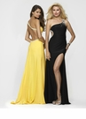 One Shoulder Yellow Jersey Prom Dress 2110
