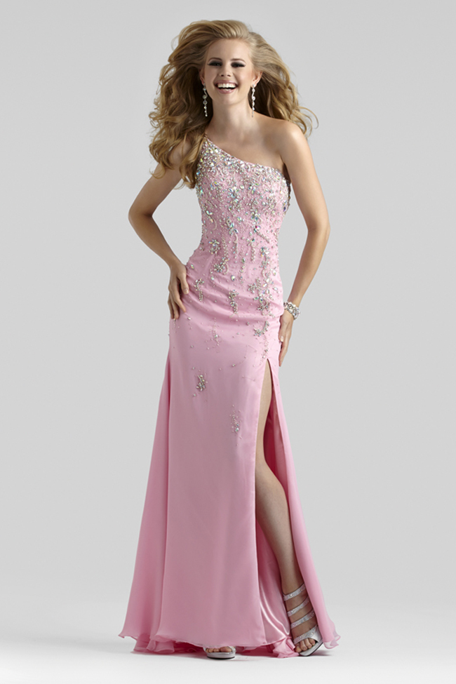 Clarisse 2013 White Purple Aqua Beaded One Shoulder Long Prom Gown ...