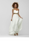 One Shoulder Ivory Prom Gown 2102