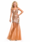 One Shoulder Sheer Prom Gown 6067