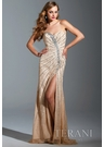 Terani Couture Nude Prom Dress 1524