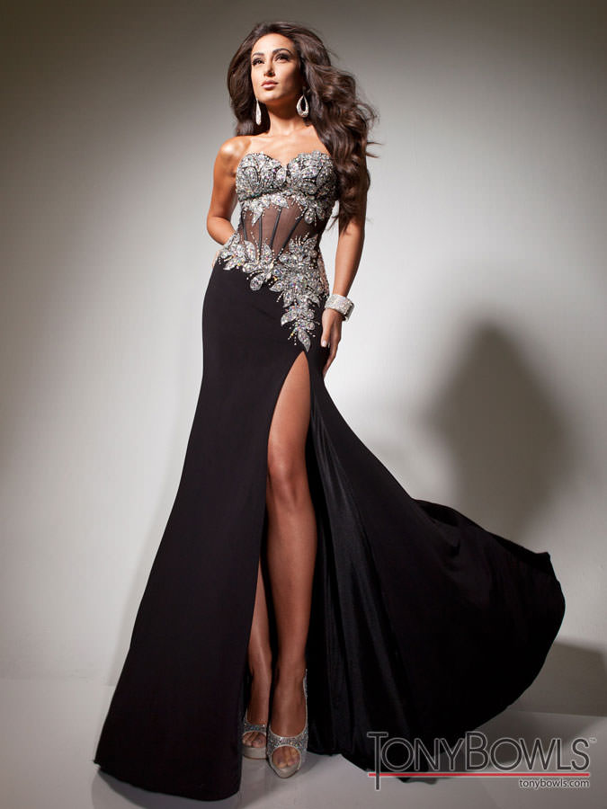 Black Corset Ball Gown Prom Dresses