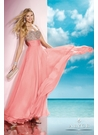 Alyce Coral A-line Prom Gown 35585