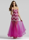 2301 Sequin Sheer Prom Dress | 3 Colors!