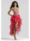 Pink High Low Ruffle Dress 2312