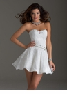 White Sequin Homecoming Dress 2452