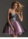 Black and Pink Babydoll Homecoming Dress 2470