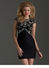 Cap Sleeve Homecoming Dress 2494