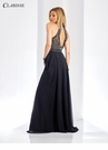 A-line Black and Silver Prom Dress 3494
