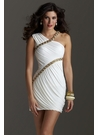 Asymmetrical Ivory Cocktail Dress 2230