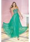 Beaded A-line Alyce Gown 6193