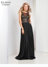 Black A-line Couture Prom Dress 4944