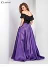 Black and Purple Ball Gown 3582