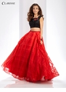 Black and Red Two Piece Prom Dress 3580
