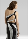 Black and Silver Gown 2394