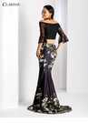 Black Bell Sleeve Floral Two Piece 3566