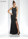 Black Iridescent Long Prom Dress 3498