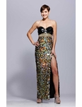 Black Iridescent Sequin Prom Dress 929