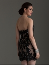 Black Lace Homecoming Dress 2454