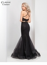 Black Two Piece Mermaid Prom Dress 4949