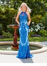 Blue Sequin Prom Dress 4963