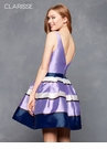 Bold Striped Homecoming Dress 3631 | 2 colors!