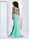 Cap sleeve Open Back Prom Dress 3432 | 3 Colors