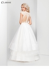 Champagne and Ivory Organza Ball Gown 3500