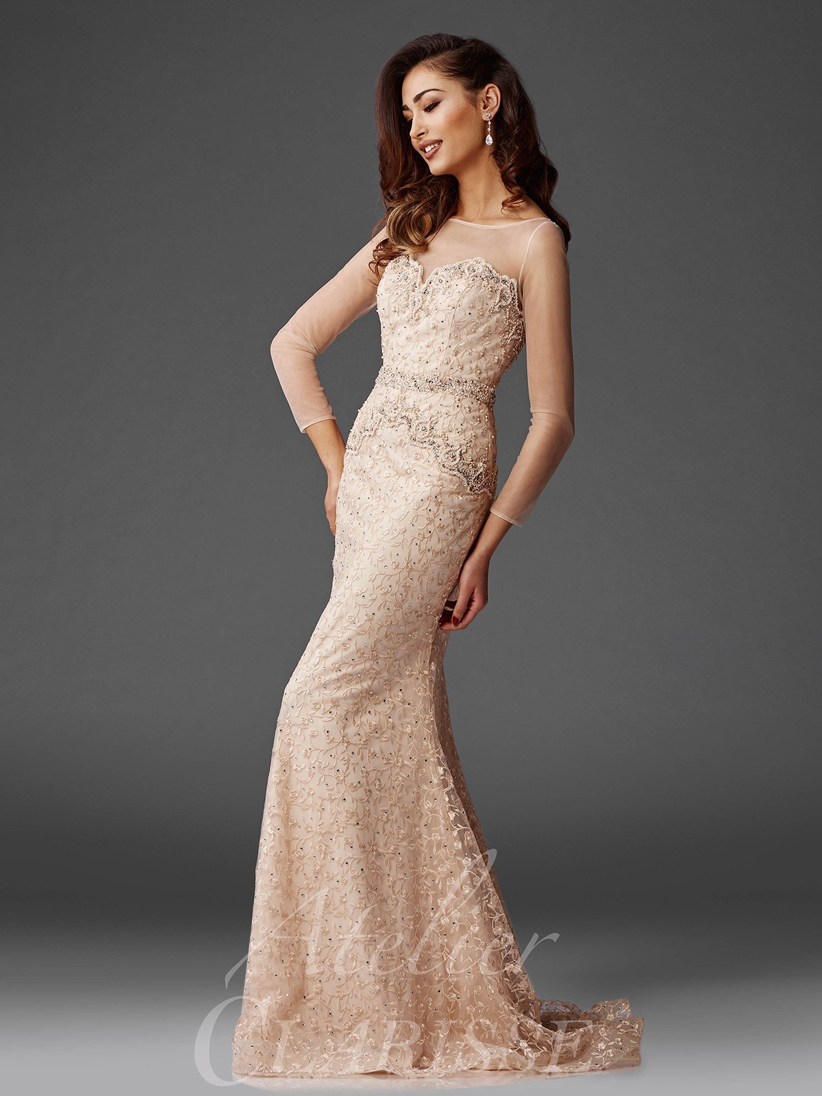Champagne Beaded Dresses