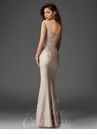Champagne Lace detail Evening Gown M6416