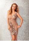 Champagne Short Prom Dress Clarisse 17134